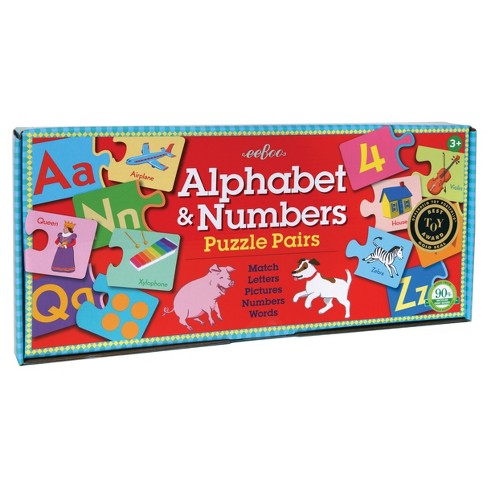 Eeboo Alphabet & Number Puzzle Pair Game 36pc - image 1 of 3