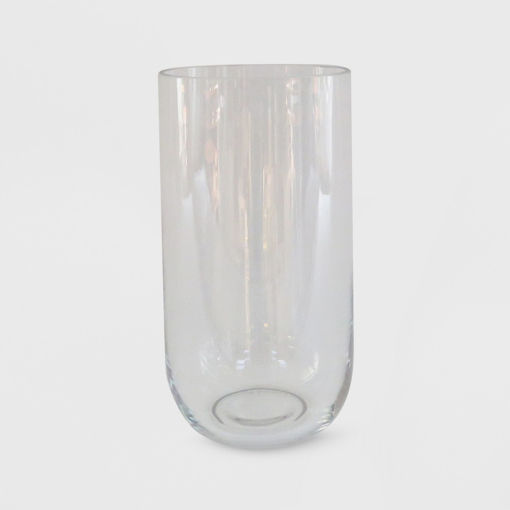 "Image of ""10"""" x 5.3"""" Hurricane Glass Pillar Candle Holder Clear - Made By Design"""