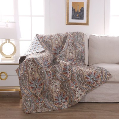 Kasey Floral Quilted Throw - Levtex Home