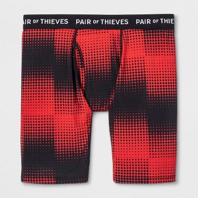 90e66ff739 Pair of Thieves Men s SF Fast Dots Long Boxer Briefs- Red L – BrickSeek