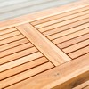 Acacia Wood Patio Coffee Table - Saracina Home - image 4 of 5