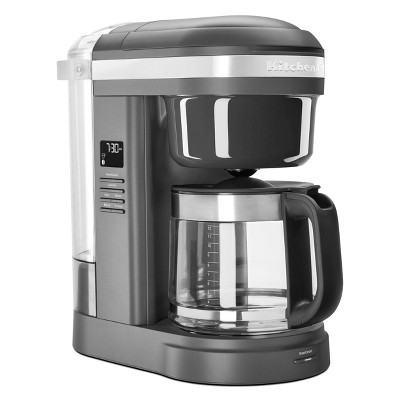 KitchenAid 12-Cup Coffee Maker with Spiral Showerhead - Matte Gray
