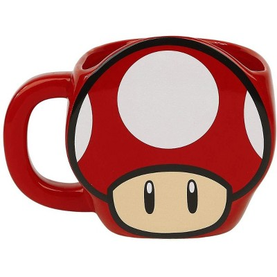Paladone Products Ltd. Super Mario Super Mushroom 11oz Shaped Ceramic Coffee Mug
