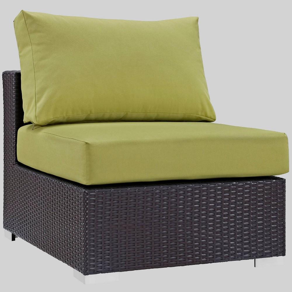 Convene Outdoor Patio Armless Chair - Peridot - Modway