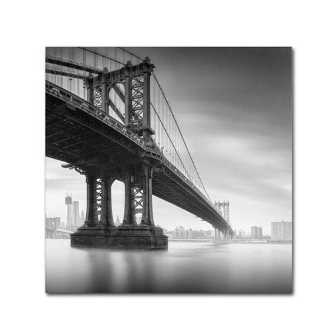'Manhattan Bridge I' by Moises Levy Ready to Hang Canvas Wall Art - image 1 of 3