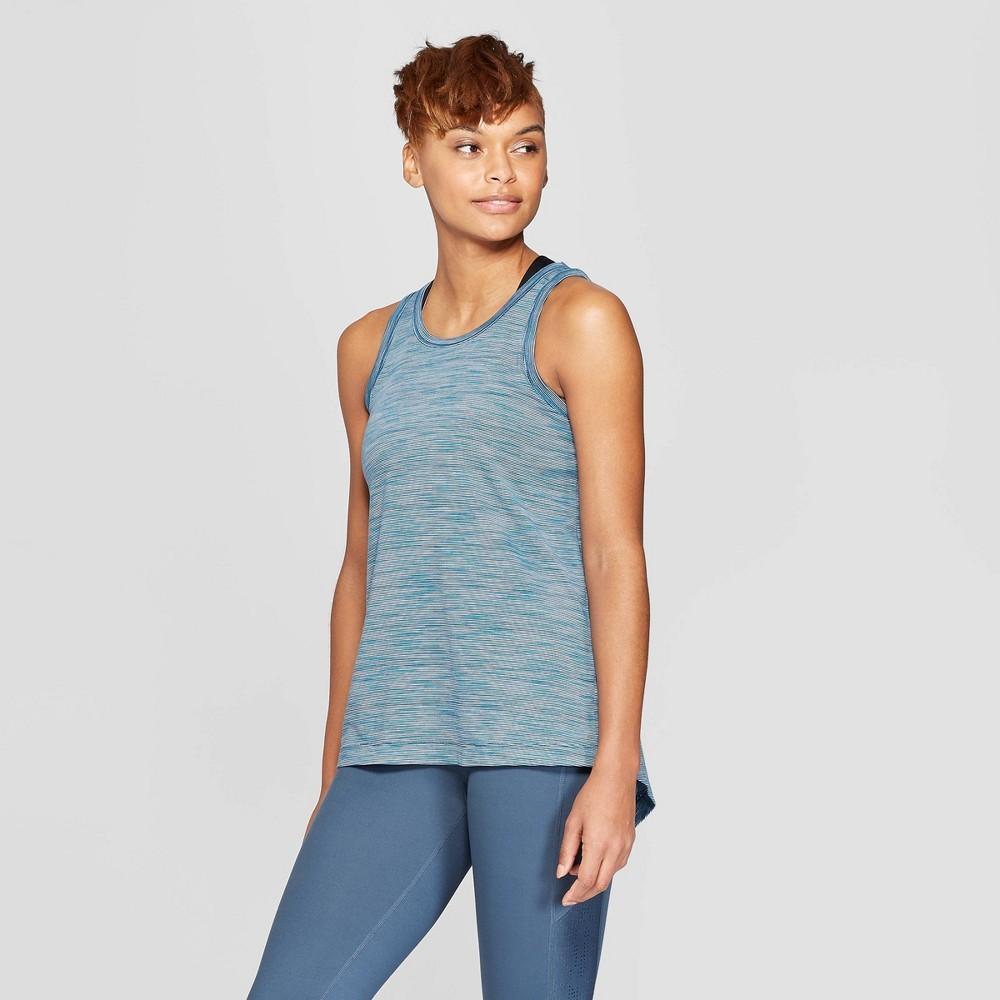 Women's Tie Back Tank Top - C9 Champion Blue Spacedye Print XS