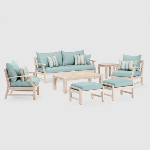 Kooper 7pc SolarFast Patio Seating Set Bliss Blue - RST Brands - image 1 of 4