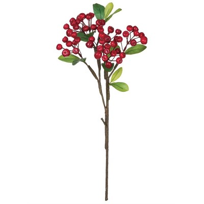 Sullivans Artificial Berry Cluster With Leaves Pick