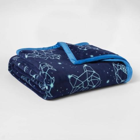 Twin Constellations Plush Blanket - Pillowfort™ - image 1 of 2
