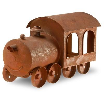 "Metal Train Lawn Ornament Rust 14"" - National Tree Company"