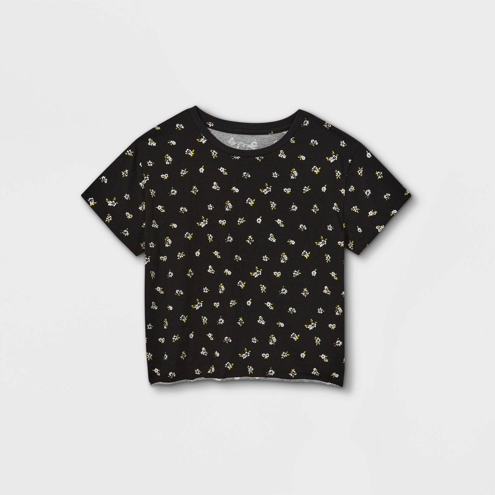 Girls 39 Boxy Pocket Short Sleeve T Shirt Art Class 8482 Black M