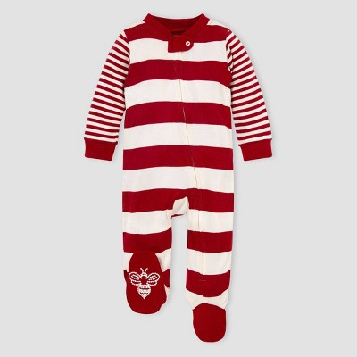 Burt's Bees Baby® Baby Organic Cotton Rugby Mixed Striped Sleep N' Play - Pink 6-9M