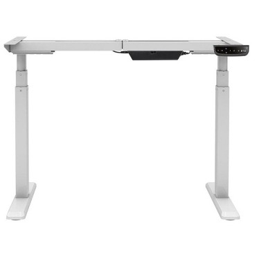 Monoprice Height Adjustable Sit-Stand Riser Table Desk Frame - White With Electric Dual Motor, Compatible With Desktops From 43 Inches-87 Inches Wide