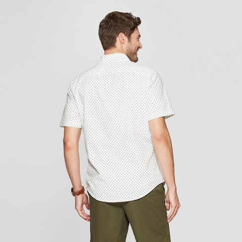 98795c19 Men's Printed Slim Fit Short Sleeve Button-Down Shirt - Goodfellow & Co™