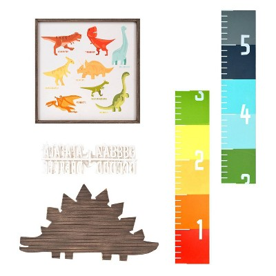 3pc Dinosaur Themed Children's Room Wall Set - New View