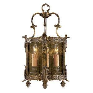 N2339 3 Light Candle Style Lantern Wall