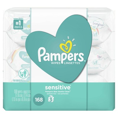 Pampers Baby Wipes Sensitive - 168ct
