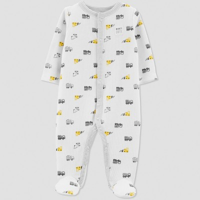 Baby Boys' Thermal Construction Sleep 'N Play - Just One You® made by carter's Gray/White Newborn