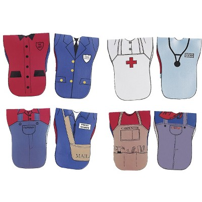 Childcraft Reversible Role Play Vests, Occupations, set of 4