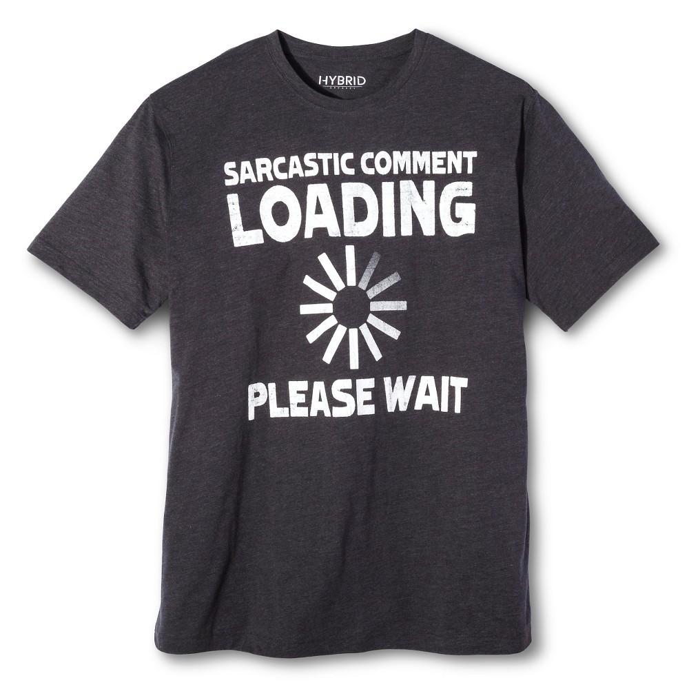 Men's Big & Tall Sarcastic Comment T-Shirt Charcoal (Grey) Xxl, Size: Xxl Tall