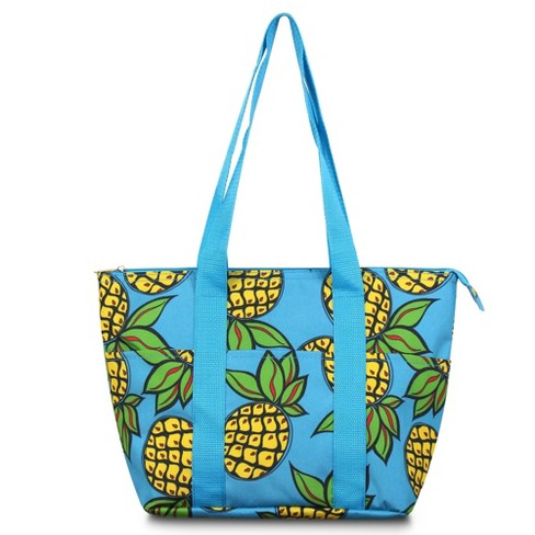 Zodaca Women Fashion Large Insulated Zip Top Closure Picnic Lunch Tote Double Handles Carry Bag - Paisley - image 1 of 3