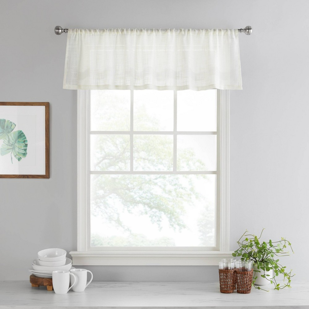 "Image of ""14""""x52"""" Bayside Valance Off-White - Vue"""