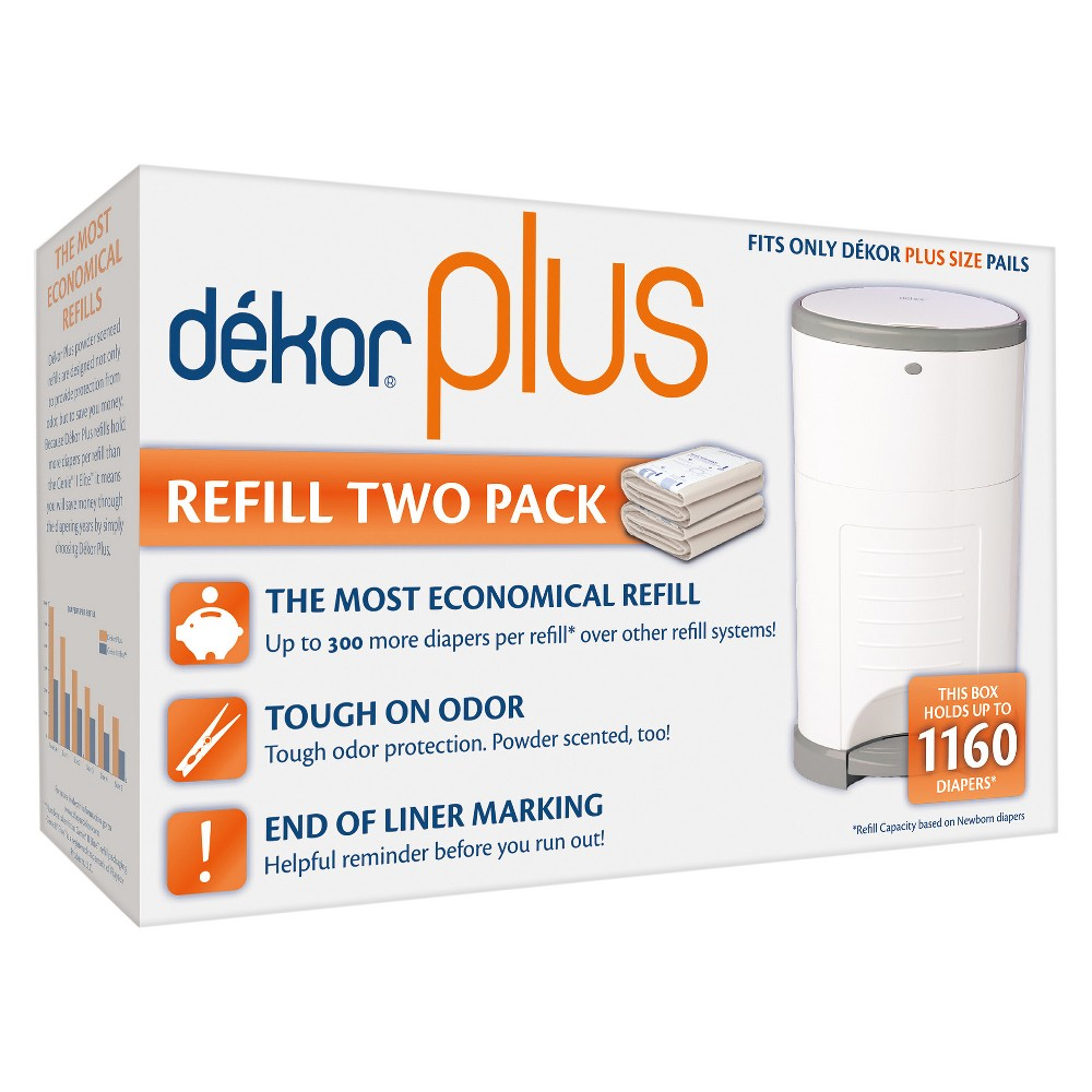 Image of Dekor Plus Diaper Pail Refills - 2pk