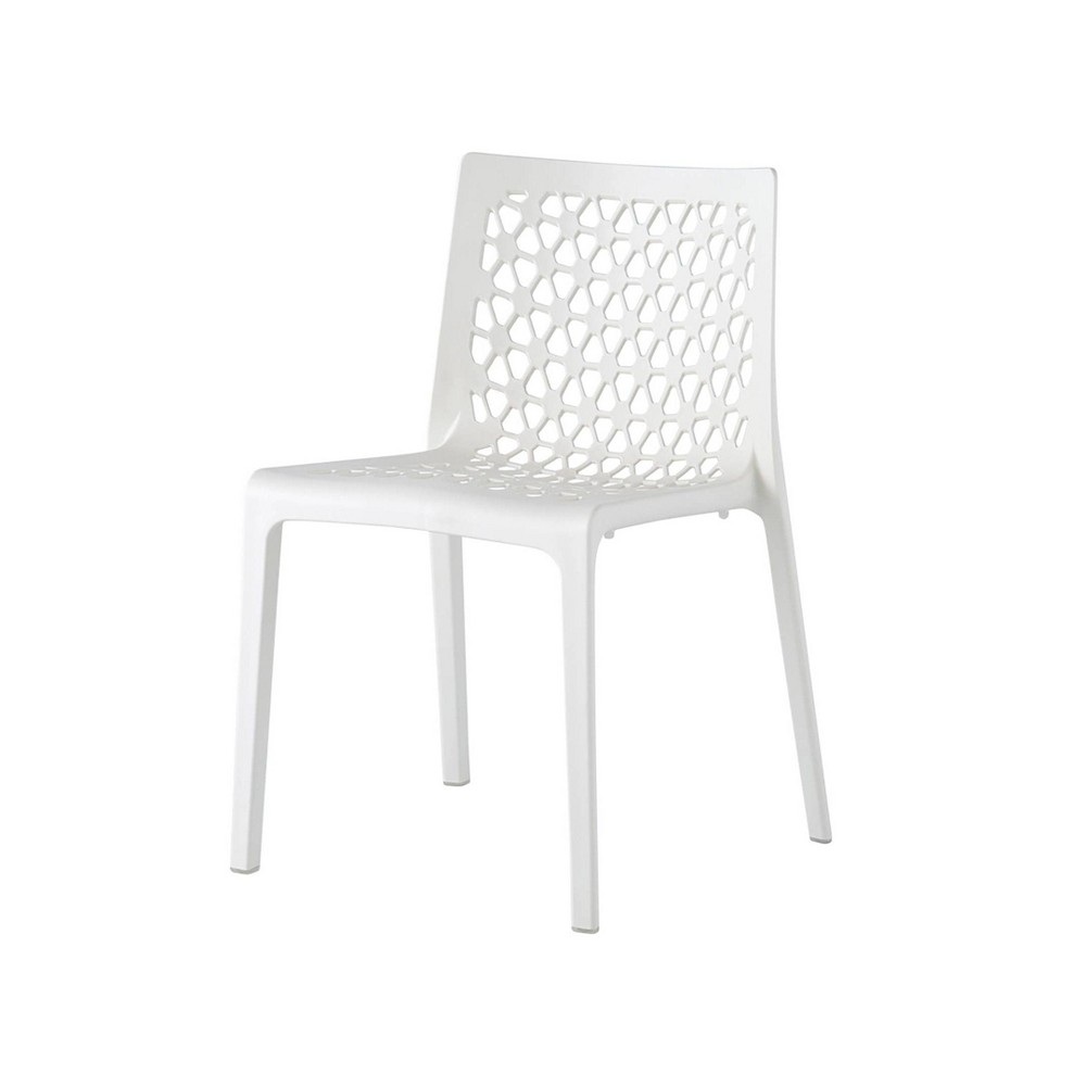 2pc Milan Stackable Dining Chairs White Lagoon