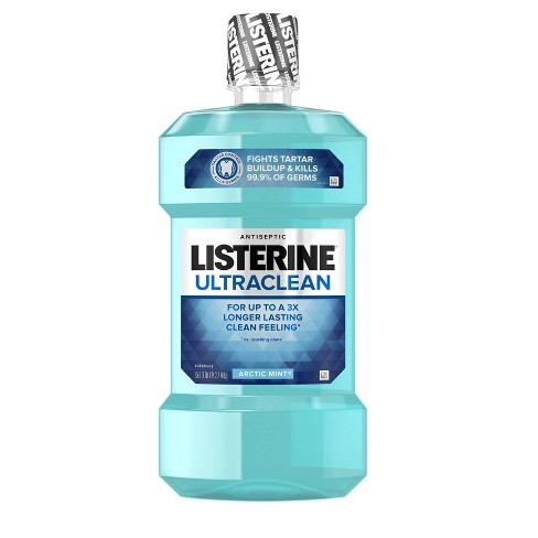 Listerine Ultraclean Artic Mint Antiseptic Mouthwash - image 1 of 4