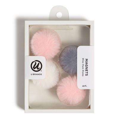 U Brands 4ct Magnets - Mini Pom Poms