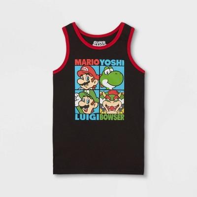 Boys' Nintendo Mario Total Control Tank Top - Black