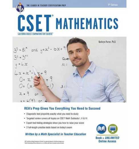 Cset Mathematics Book + Online (Paperback) (Kathryn Porter) - image 1 of 1