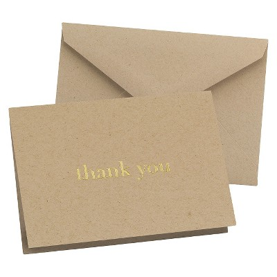 """25ct """"Thank You"""" Wedding Cards"""