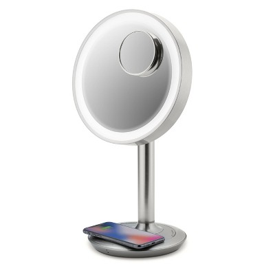 """iHome 9"""" LUX POWER Lighted LED Vanity Makeup Mirror with  Bluetooth Audio"""