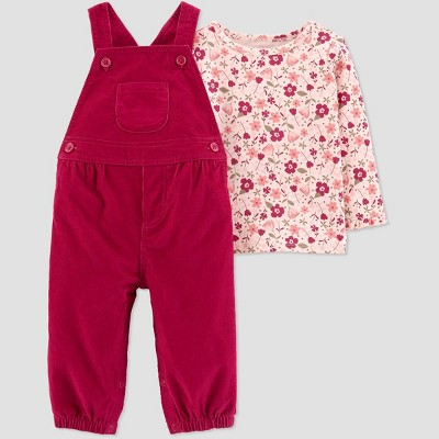 Baby Girls' Floral Top & Bottom Set - Just One You® made by carter's Red 6M