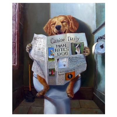 Dog Gone Funny by Lucia Heffernan Unframed Wall Art Print