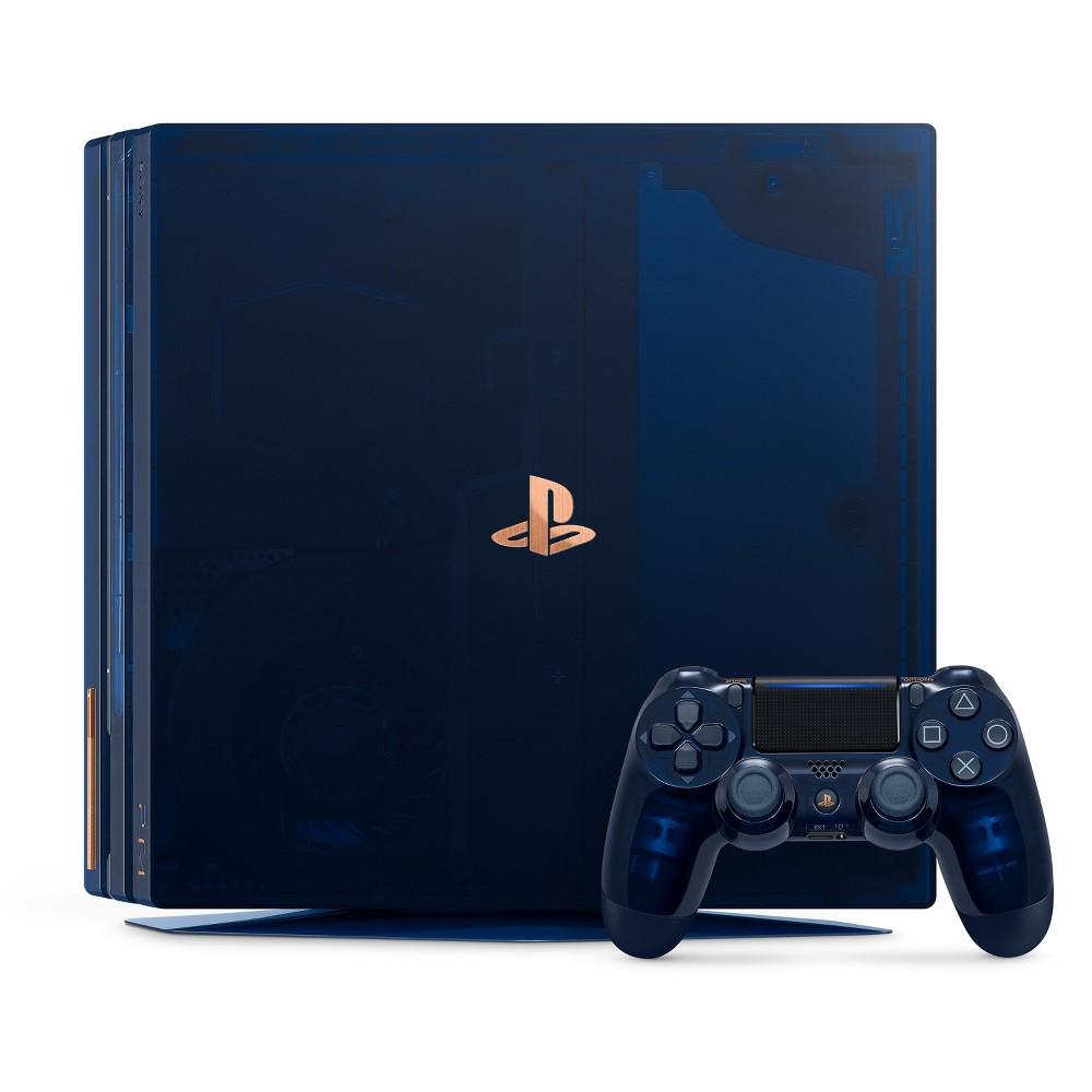 PlayStation 4 Pro 2TB 500 Million Limited Edition Console, Translucent Blue