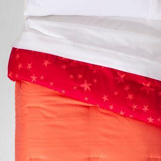 Twin Seersucker Reversible Comforter Pink - Pillowfort™