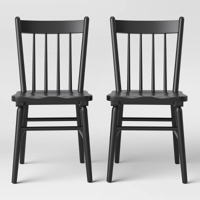 Set of 2 Hassell Wood Dining Chair Black - Threshold™