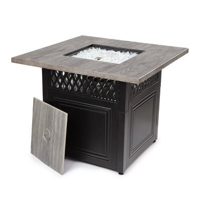 Dakota Dual Heat Gas Outdoor Fire Pit/Patio Heater with Wood-Look Resin Mantel - Endless Summer