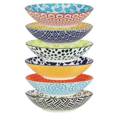 32oz 6pk Porcelain Chelsea Dinner Bowls - Certified International