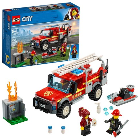 LEGO City Fire Chief Response Truck 60231 Building Set with Toy Firetruck and Ladder 201pc - image 1 of 4