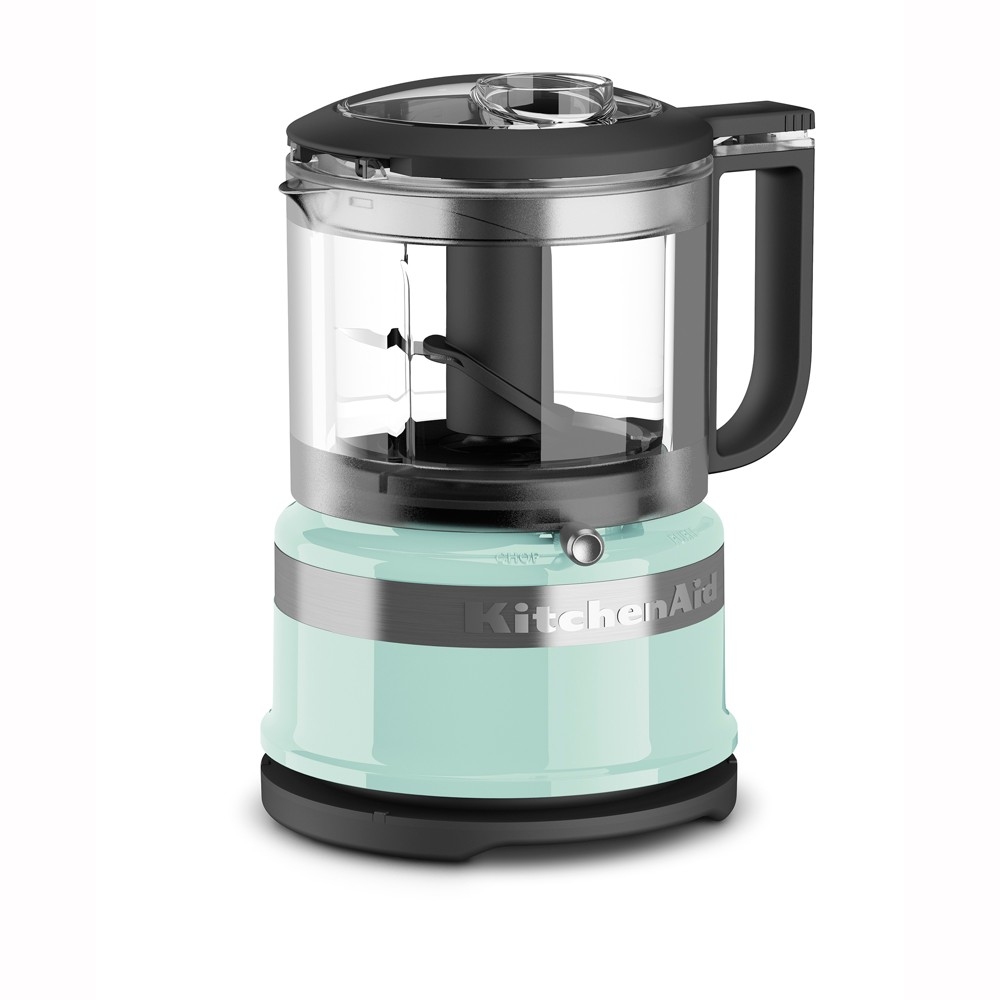 KitchenAid Refurbished 3.5 Cup Mini Food Processor – Blue RKFC3516IC, Ice Blue 53422675