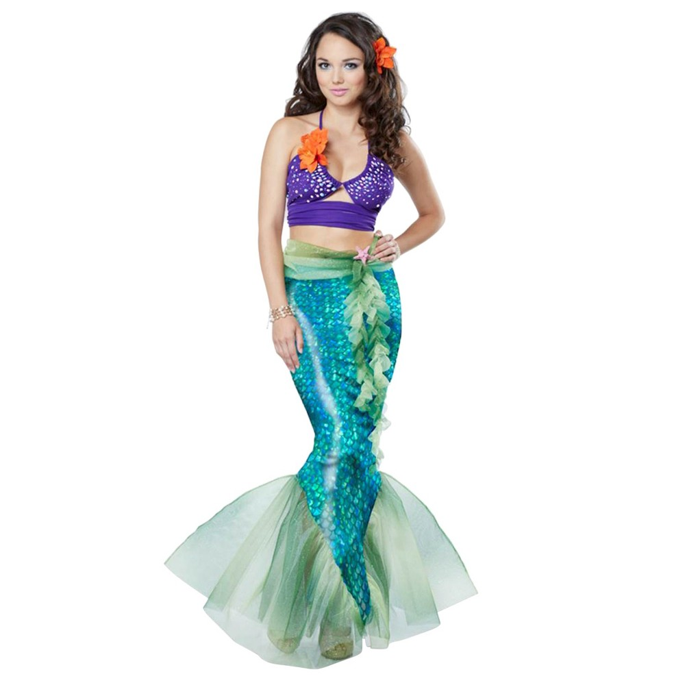 Women's Mythic Mermaid Costume Medium, Multicolored