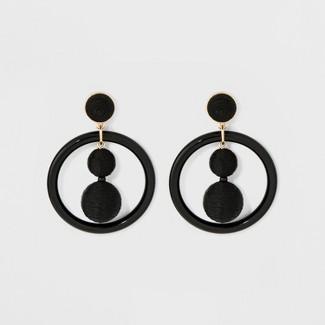 SUGARFIX by BaubleBar Whimsical Hoop Earrings - Black