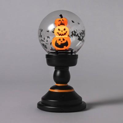 Small Animated Pumpkin Snowglobe Halloween Decorative Prop - Hyde & EEK! Boutique™