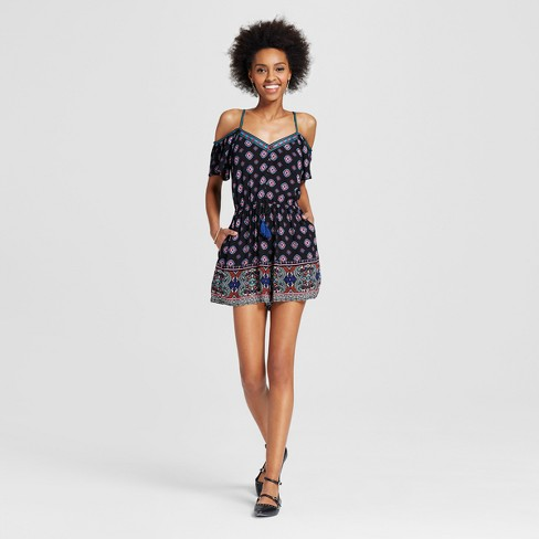 Women's Button-front Romper - Xhilaration™ (Juniors') - image 1 of 2