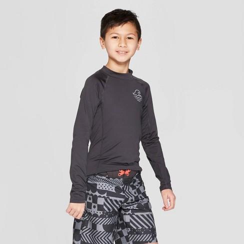 Boys' Long Sleeve Rash Guard - art class™ Gray - image 1 of 3