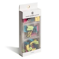 25pk UBrands Happy Face Binder Clip Kit