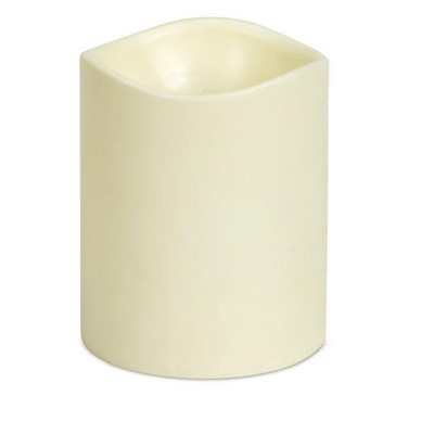 """Brite Star 5.5"""" Ivory Battery Operated Flameless LED Lighted Flickering Wax Christmas Pillar Candle"""